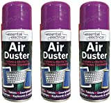 3 x Compressed Air Duster Spray Can Cleaner Electronics Keyboard Electronics 200ml