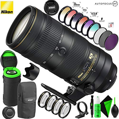 Nikon AF-S NIKKOR 70-200mm f/2.8E FL ED VR Lens with Creative Filter Kit and Pro Cleaning Accessories