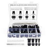 Keenso Convertidor de Auriculares DE 3,5 mm y 2 Agujeros Adaptador de 1 a 2 machos a Hembras Adaptador de Divisor de Audio machos a Hembras 2-RCA Adaptador de Doble Conector RCA Jack