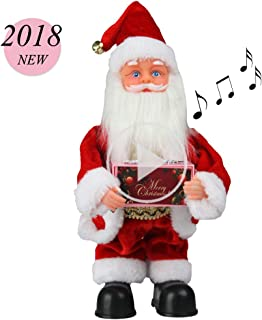 SdeNow Musical Santa Claus, Singing Dancing Santa Claus Toy Christmas Santa Claus Musical Doll Xmas Electric Dolls Xmas Box for Kids