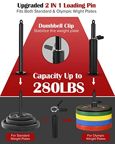 Fitness Cable Pulley System, DIY Pulley Cable Machine Attachment System for Home Gym Wall Mounted Lat Pull Down Machine Workout Pulley System Exercise Equipment for Triceps Extension, Biceps Curl