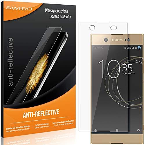 SWIDO Schutzfolie für Sony Xperia XA1 Ultra Dual [2 Stück] Anti-Reflex MATT Entspiegelnd, Hoher Festigkeitgrad, Schutz vor Kratzer/Folie, Bildschirmschutz, Bildschirmschutzfolie, Panzerglas-Folie