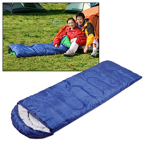chinawh Isomatte Camping Warm Rechteck Schlafsack (Color : Blue)