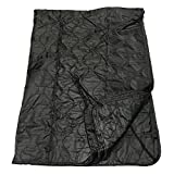 DBM IMPORTS 86' Black G.I Style Poncho Liner Nylon Ripstop Sleeping Bag Blanket Sleeping Gear Hike Camping