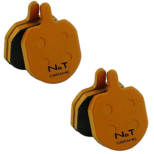 2x pastillas de freno de disco de cerámica Noah And Theo NT-BP008/CR para Bengal Helix 1.0 1.1 2.1 2.5 3 3L 5 5L 7 7L 7.5 MB606 MB700 MB839 MB840 MB845 MB849 Strida Ares PH02
