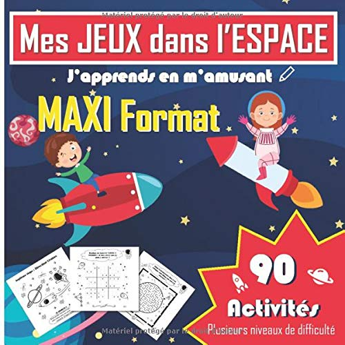bon comparatif Mes SPACE GAMES – 90 leçons – Format MAXIMUM: labyrinthe, sudoku, différents jeux,… un avis de 2021