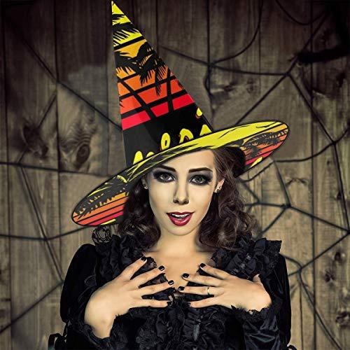 AISFGBJ Tenerife Sombrero de Bruja de Sol Vintage para Halloween, Unisex, Disfraz para Vacaciones, Halloween, Navidad, Carnaval, Fiesta