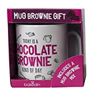 Bakedin Chocolate Brownie Mug Gift Set 55 g ベイクディン チョコレート ブラウニー マグギフト セット 55 g