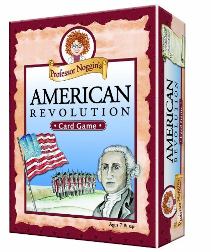 Professor Noggin's American Revolution - Educational Trivia Card Game for Kids - 180 Questions - Ages 7+