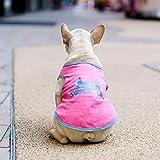 NANKE Ropa para Perros Mascota Raíces Ley Tobago Ropa Cubo Bushel Corgi Camiseta De La Primavera Y El Verano De Corea,Superman Chaleco Rosado,XL (Busto 62 Cm) -50G