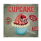 Mesllings Vintage Cupcake Poster Home Bedruckt Fashion