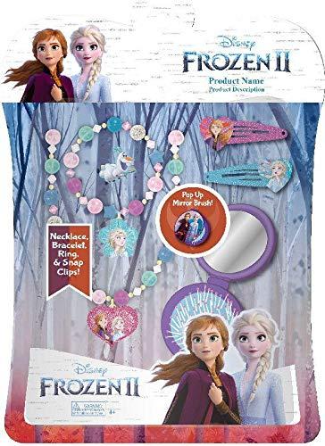 Disney Frozen- Set 6 Accesorios Pelo con Cepillo 2 Sets de cosmética y joyería (Kids 1)