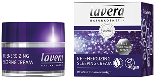 Lavera crema de dormir re-energizing-5 in1 over-night-effect-Antienvejecimiento Crema hidratante Crema de Noche-Vegan Orgánica Cuidado de la piel Set Natural & innovador cosméticos Set 50 ml