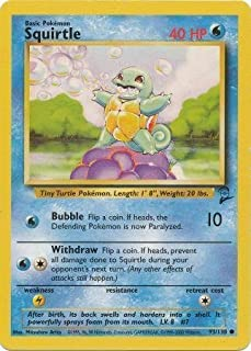 Pokemon - Squirtle (93) - Base Set 2