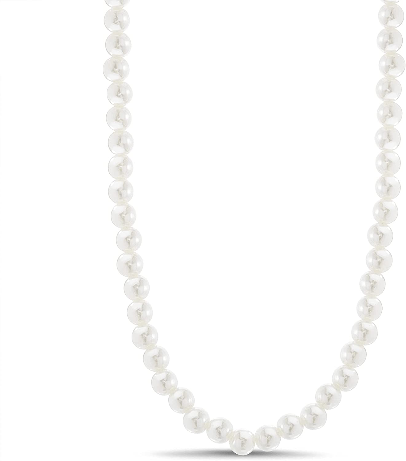 Steve Madden 32 Inch Simulated Pearl Necklace for Women with Carabiner Closure