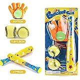 PowerGaga EVA Foam Toy Baseball Set 4pcs/Set Baseball Toy Set 1pc Baseball Glove (Random Color)+2pcs Soft Ball + 1pc Baseball Bat Outdoor Sport Baseball Set for Kids Boys Adults