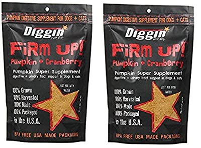Diggin Your Dog xMlJxQ Firm Up Pumpkin Supplement, Pumpkin and Cranberry, 9.5H X 6.5W X 2.5D (Pack of 2)