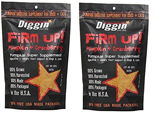 Diggin Your Dog xMlJxQ Firm Up Pumpkin Supplement  Pumpkin and Cranberry  9.5H X 6.5W X 2.5D (Pack of 2)