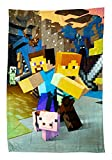 Minecraft Official Goodguys Fleece Blanket Throw   Creeper Design Super Soft Blanket   Perfect for Any Bedroom