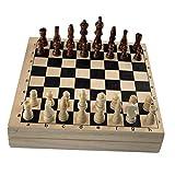 perfeclan Juego de ajedrez de Madera 2 en 1, Juego de Mesa de Hockey Grande de 22 Pulgadas