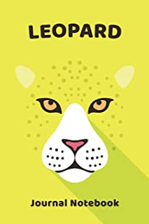 Leopard Notebook Journal: Zoo Farm Animal Face Close Up Note Book Journal Diary, Cool Gift for Men, Women, Kids 118 pages ...