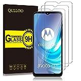 QULLOO Protector de Pantalla para Motorola Moto G50 [3 Piezas], 9H HD Alta Sensibilidad Cristal Templado para Motorola Moto G50