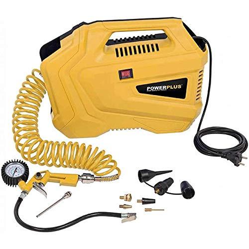 PowerPlus 10428 10428-Compressore Portatile, 1100 W, Funziona a 230 V, Pressione 8...