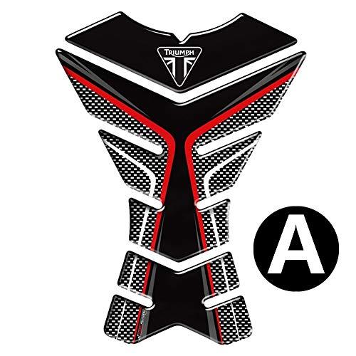 BTZHY 3D-Motorrad-Behälter-Auflage-Schutz-Abziehbild-Aufkleber-Fall for Triumph Tiger 800 XC 675R Speed Triple (Color : A)