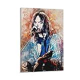 Young Neil Sänger-Poster, dekoratives Gemälde, Leinwand,