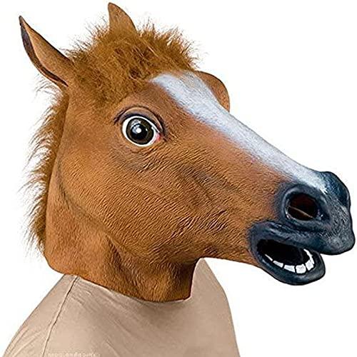 Máscara de caballo de Supmaker, hecha de látex, para disfraz de Halloween
