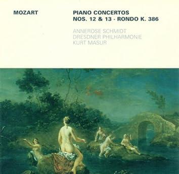 MOZART, W.A.: Piano Concertos Nos. 12 and 13 / Rondo, K. 386 (Schmidt, Dresden Philharmonic, Masur)