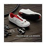 Zapatillas con Bloqueo De Bicicleta Ultraligeras Autoblocantes para Hombre Zapatillas De Bicicleta Zapatillas De Triatlón para Bicicleta De Carretera,White-43