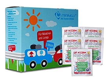 WC Bundle de secours pour les enfants de rangement pour dringende Petit besoins en, dans la voiture de voyage ou ailleurs avec poignée de désinfection lingettes (5 pièces pour fille et garçon)