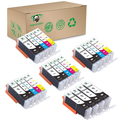 Supricolor PGI-250XL CLI-251XL Ink Cartridges, High Yield Replament Ink for PGI 250XL CLI 251XL Compatible with Pixma MX922 MG6420 MG6620 Printers 24 Pack (not edible ink)