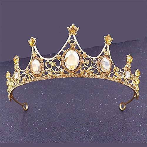 juntao Princesa Tiaras de metal pequeña corona para niñas, tocado de baile,...