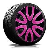 15 Zoll RKK10 Multi-Color Line Schwarz/Pink Radkappen/Radzierblenden 4 Stück