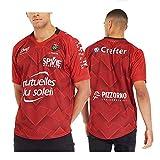 Maillot de Rugby pour Homme, 2020 France Toulon Rugby Polo Shirt T-Shirt d'entraînement, Haut de Sport de Football Supporter, Meilleur Cadeau d'anniversaire-2020.Red-M