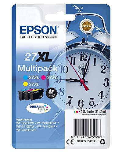 Epson C13T27154022 - Cartucho de tinta, multi-pack XL, tricolor (amarillo, magenta, cian)