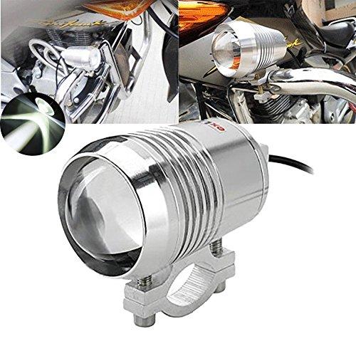 TUINCYN Moto LED Spotlight 30W CREE U2 Spot Light Chrome Logement 6000K Super Bright Motor Running Light Driving Lamp (pack de 1)
