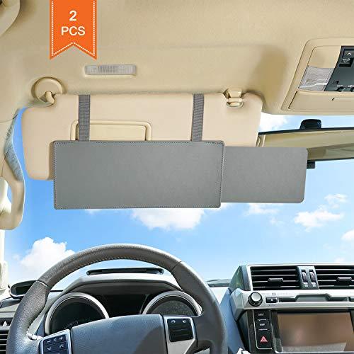 TFY Car Visor Extender antireflets Pare-soleil Extender Pare-soleil et des rayons UV Blocker – Gris (2 pièces)