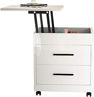 Tables de chevet - Plan de travail relevable avec armoire de rangement à tiroirs, type économique multifonctionnel Meubles...