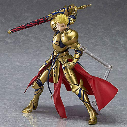 QIYHB 22 cm Fate/Stay Night Anime Figura 300# Fataearcher Hero King Gilgamesh Brillo Super Movible Edición Premium Sculpture Decoración Estatua Estatua Modelo Muñeca Muñeca