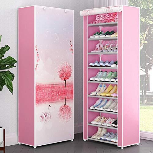 Zapatero organizador de zapatos de metal de aluminio para zapatos de pie, estante de almacenamiento para el hogar, accesorios de velcro 29