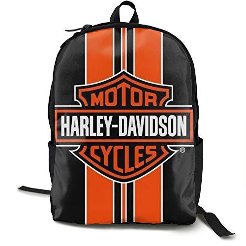 Harley Davidson, zaino da viaggio a strisce arancioni, impermeabile, adatto per viaggi, palestra, scuola, shopping, yoga, escursionismo, spiaggia