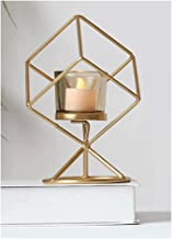 Candle Holder Iron Candle Holder Ornament Geometric Three-Dimensional Candlestick Table Decoration Candleholder Stand Cand...