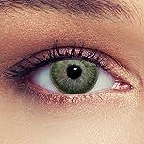 Lenti a contatto colorate verde tenui non vistoso colores senza diottrie + gratis caso di lenti Modello'True Green'