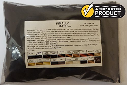 Hair Building Fibers 57 Grams. Highest Grade Refill That You Can Use for Your Bottles From Competitors Like Toppik?, Xfusion?, Miracle Hair? (Soft Black)