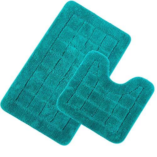 Pauwer Juego 2 Alfombrillas baño Microfibra Antideslizante