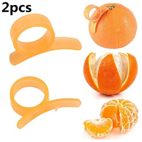 2Pcs Orange ¨¦plucheurs Ouvreur Slicer Coupeur D¨¦capant de peau de citron de citron en plastique Outils de cuisine Gadgets par SamGreatWorld