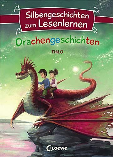 Silbengeschichten zum Lesenlernen - Drachengeschichten: Lesetraining für die Grundschule - Lesetexte mit farbiger Silbenmarkierung